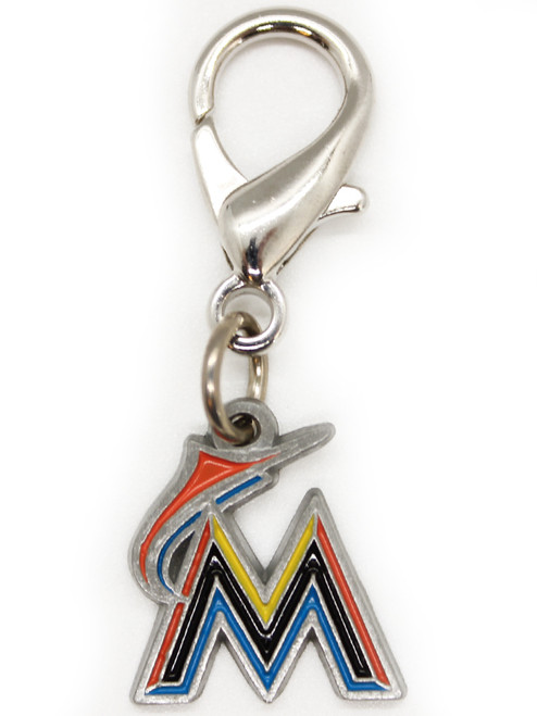 Miami Marlins collar Charm - by Diva-Dog.com