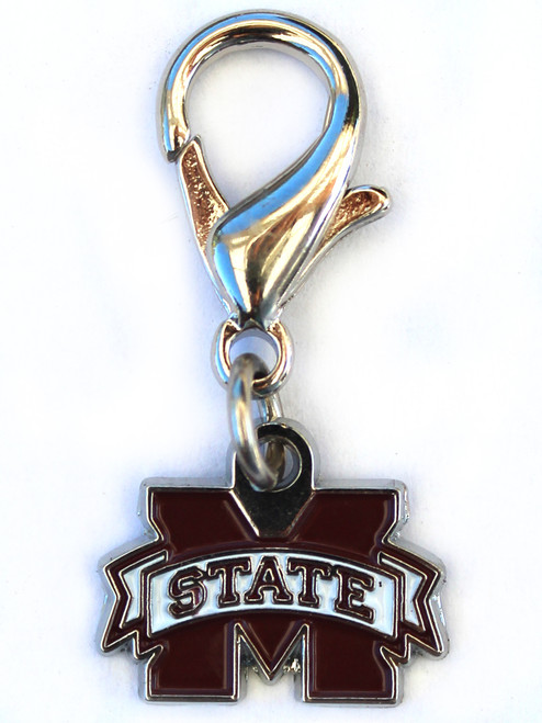 Mississippi State dog collar charm by diva-dog.com