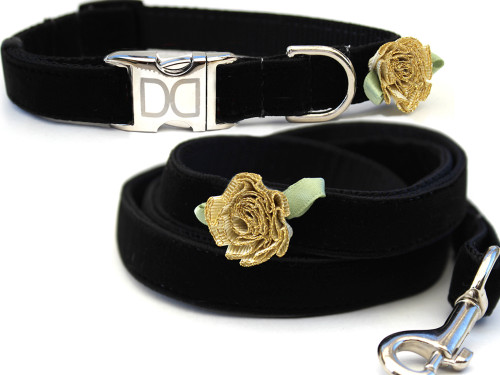 A formal affair dog Collar and Leash Set - by Diva-Dog.com