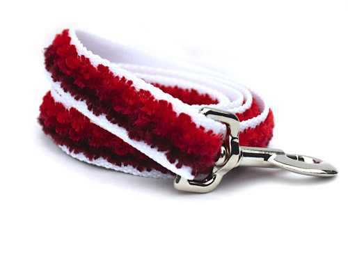 Cabo dog Leash - by Diva-Dog.com - Sunset Red