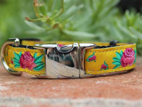 Spanish Rose dog Collar - by Diva-Dog.com