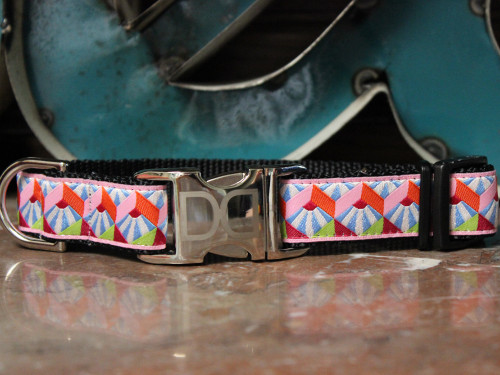 Art Deco Diva dog collar - by Diva-Dog.com