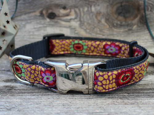 Kaleidoscope dog collar - by Diva-Dog.com