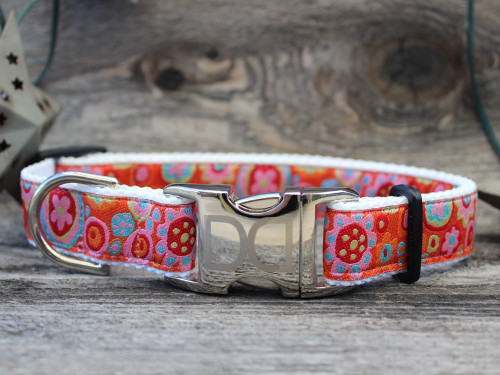 Ibiza Gumdrop dog Collar - by Diva-Dog.com in bright color palette