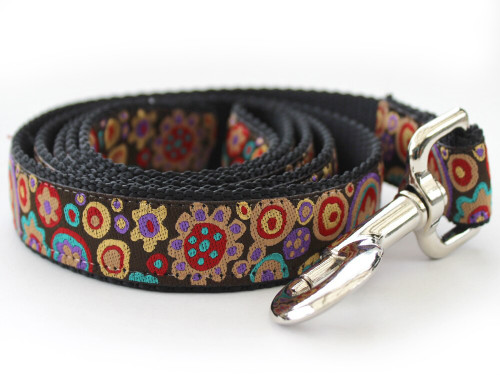 Ibiza dog Leash - by Diva-Dog.com in the dark palette