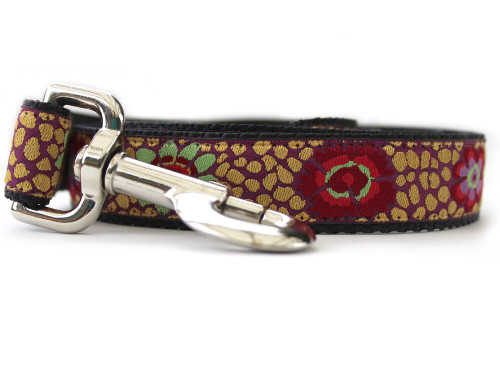 24 Karat Kaleidoscope dog Leash - by Diva-Dog.com
