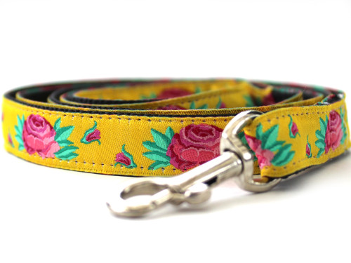 Spanish Rose Leash - by Diva-Dog.com