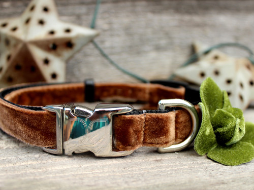 Camellia Olive Dog Collar - by Diva-Dog.com