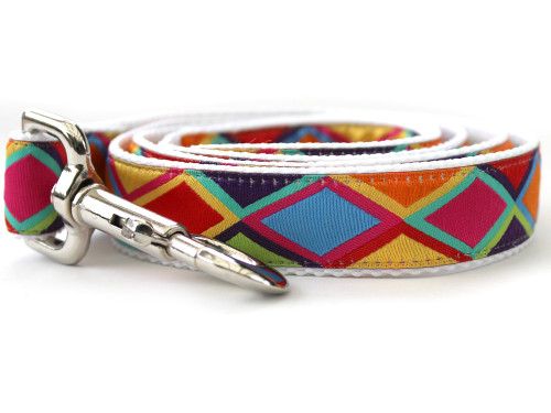 Tanzania dog Leash - by Diva-Dog.com shown in the bright palette of colors