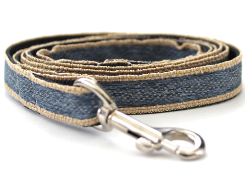 Denim dog Leash - by Diva-Dog.com