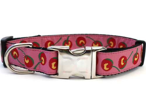 Cherries dog collar - by Diva-Dog.com