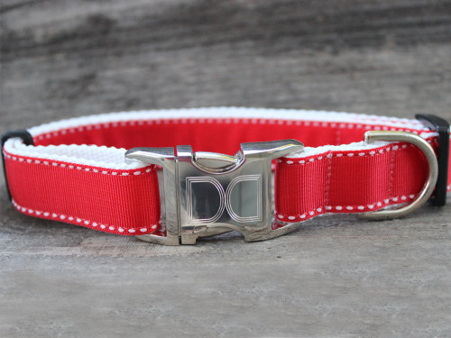 Preppy in Red Dog Collar - by Diva-Dog.com