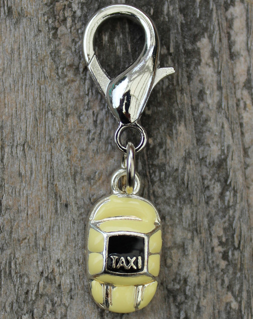 Taxi Please dog collar charm - by diva-dog.com
