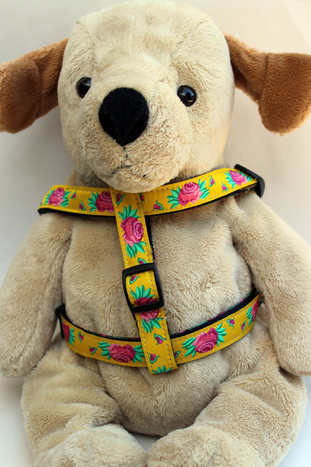 Spanish Rose step-in Harness - by Diva-Dog.com  - Front View
