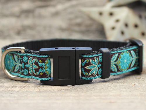Boho Peacock cat collar by Diva-Dog.com
