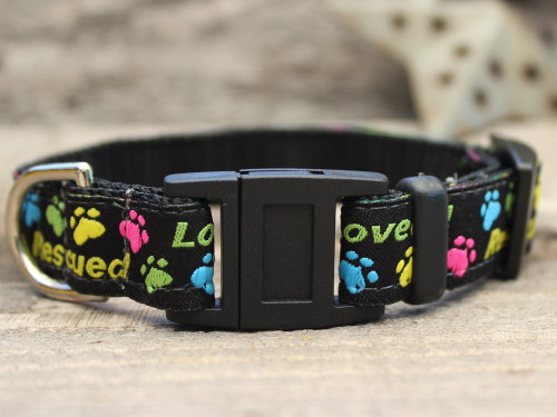 Rescue Me cat collar by Diva-Dog.com
