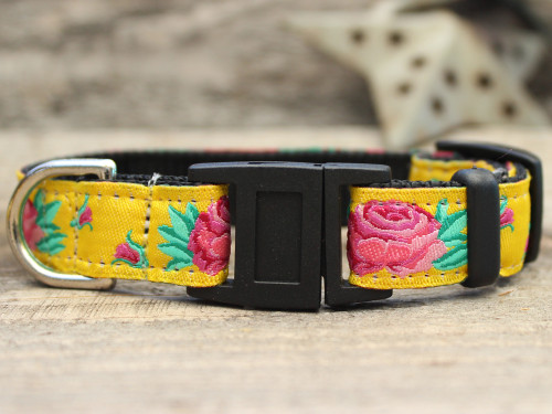 Spanish Rose cat collar by Diva-Dog.com