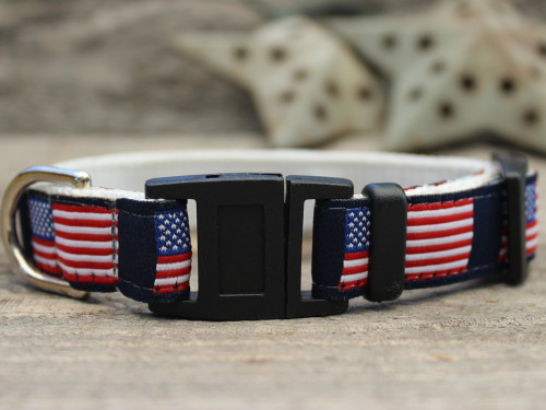 Stars n Stripes cat collar by Diva-Dog.com