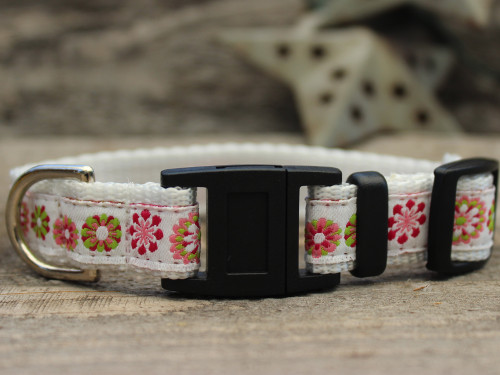 Winter Garden cat collar by Diva-Dog.com