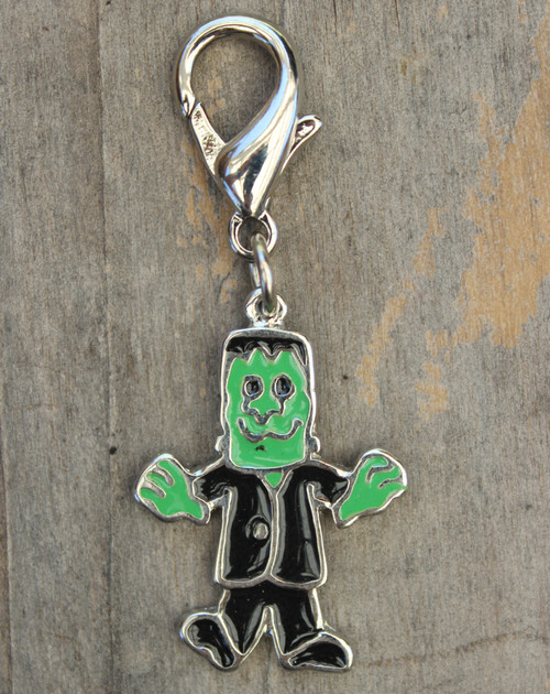 Frankenstein collar Charm - by Diva-Dog.com