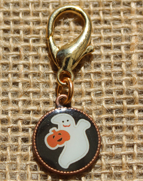 Ghost Disc dog collar charm - by Diva-Dog.com