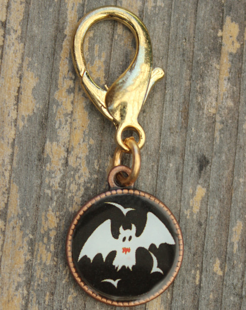 Bat Disc dog collar charm - by Diva-Dog.com
