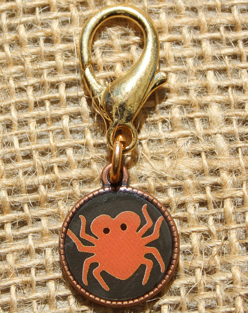 Spider Disc dog collar charm - by Diva-Dog.com