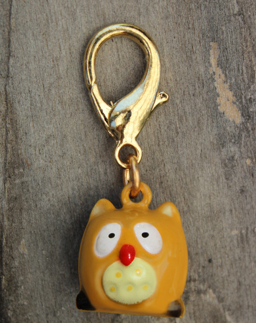 Golden Owl Charm - by Diva-Dog.com