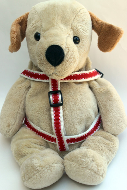 Preppy in Red step-in Harness - by Diva-Dog.com  - Front View