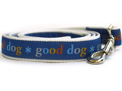 Good Dog blue dog leash by www.diva-dog.com
