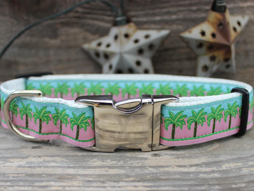 South Beach Pink Dog Collar - by Diva-Dog.com