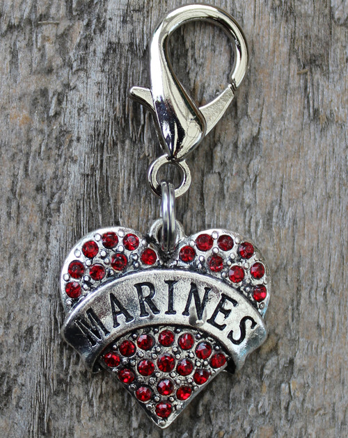 Marines dog collar charm by www.diva-dog.com