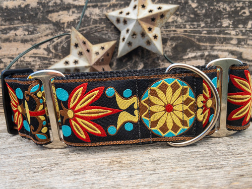 Parisian Deco extra wide dog collar by www.diva-dog.com