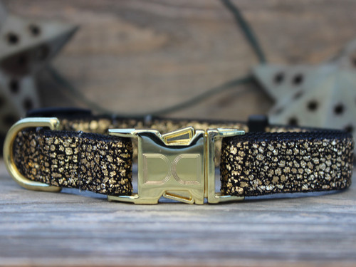 Monty Metallic 24 Karat Gold dog collar by www.diva-dog.com