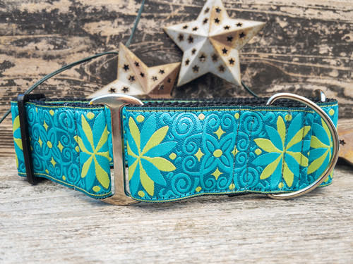 Caribbean extra wide dog collar by www.diva-dog.com
