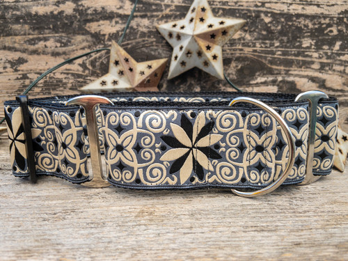 Norway Winter extra wide dog collar by www.diva-dog.com