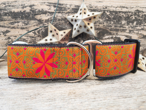 Mexicali extra wide dog collar by www.diva-dog.com