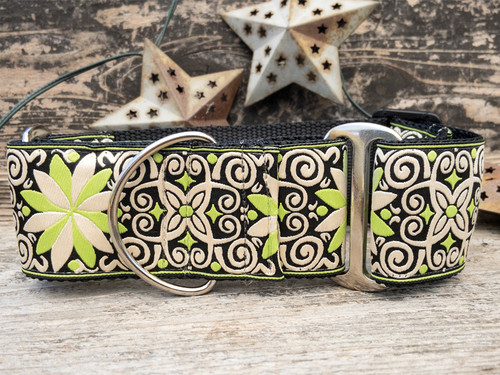 Pinwheel Dutch Spring martingale  dog collar by www.diva-dog.com