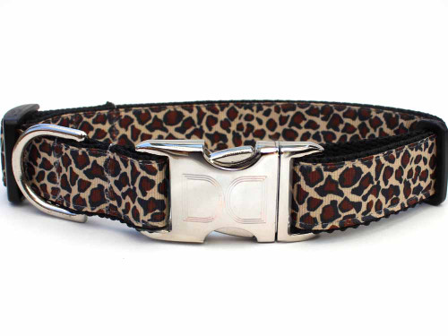 Leaping Leopard Dog Collar - by Diva-Dog.com