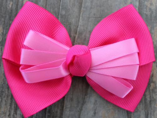 Tuxedo pink bow for dog collars by www.diva-dog.com