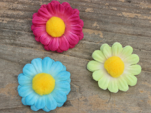Daisy Chain set of 3 flowers for dog collars by www.diva-dog.com