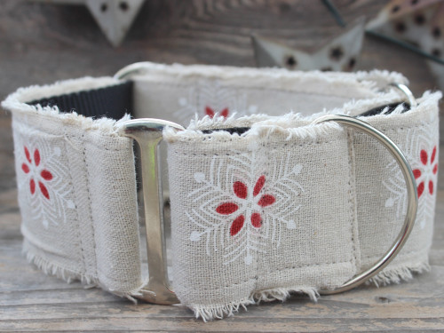 Vintage Noel martingale collar and extra wide collar by diva-dog.com