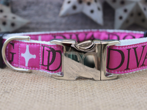 Monogram Dog Collar - by Diva-Dog.com