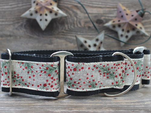 Pineberry martingale collar and extra wide collar by diva-dog.com