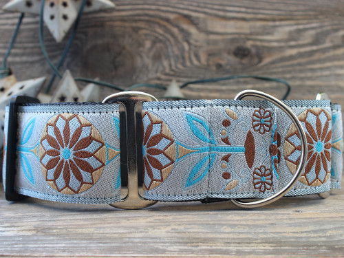 Boho Morocco martingale dog collar - by www.diva-dog.com