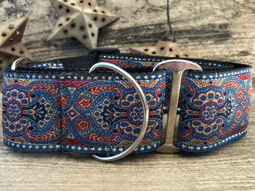Kashmir Egyptian Sunset martingale dog collar  - by www.diva-dog.com