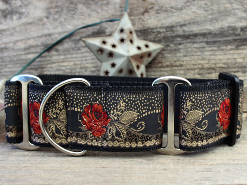Dakota Rose martingale dog collar by www.diva-dog.com