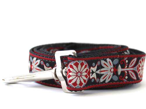 Carnelian Red Dog Leash - by www.diva-dog.com