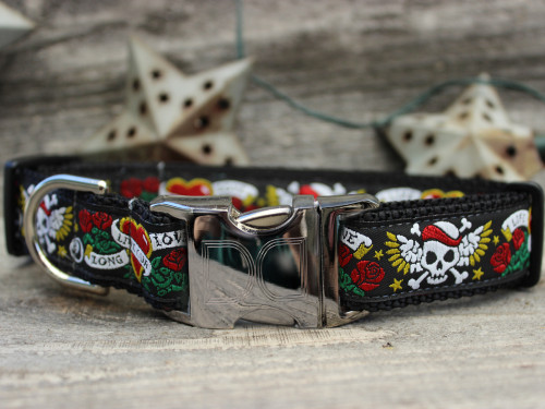 Wild One Black Dog Collar - by Diva-Dog.com