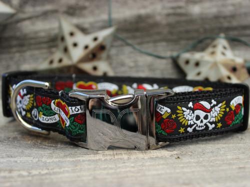 Wild One Black Dog Collar - by Diva-Dog.com